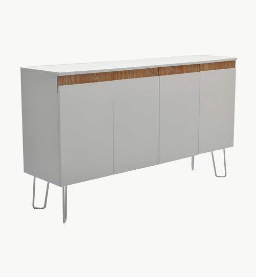 Capello buffé är ett sideboard som är tillverkad i vitlackerad MDF. Sideboardet / mediabänken passar i badrummet lika väl som i vardagsrummet. Finns även i två skåp, men då i svart. #azdesign #forvaring #mediabankar #sideboard