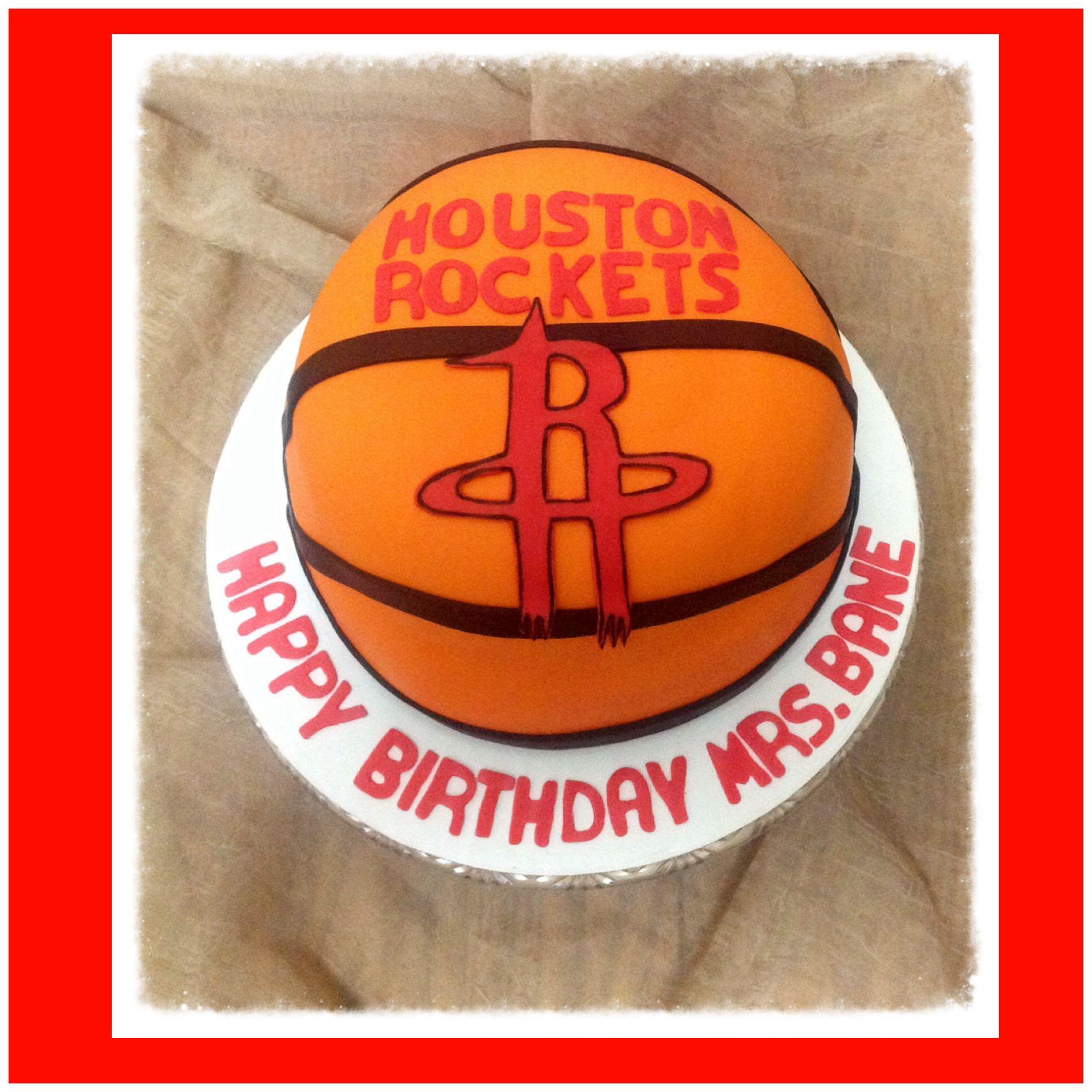 Houston Rockets Cake Basketball Door Signs Boy Birthday