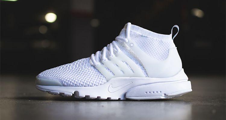 """check out 07546 12ec7 Nike Presto Flyknit Ultra """"Triple White"""""""