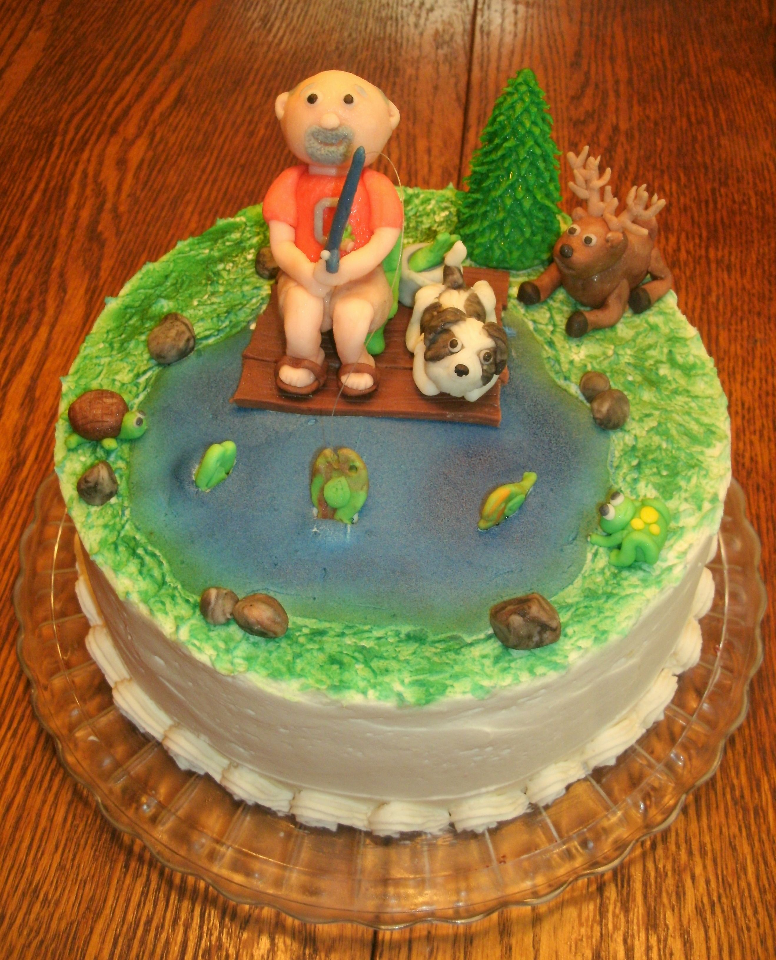 Fishing Birthday cake Made for my Father In Law with his fishing