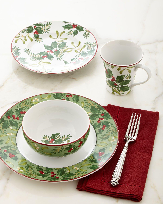16-Piece Christmas Foliage Dinnerware Service | The Inspired Hostess ...