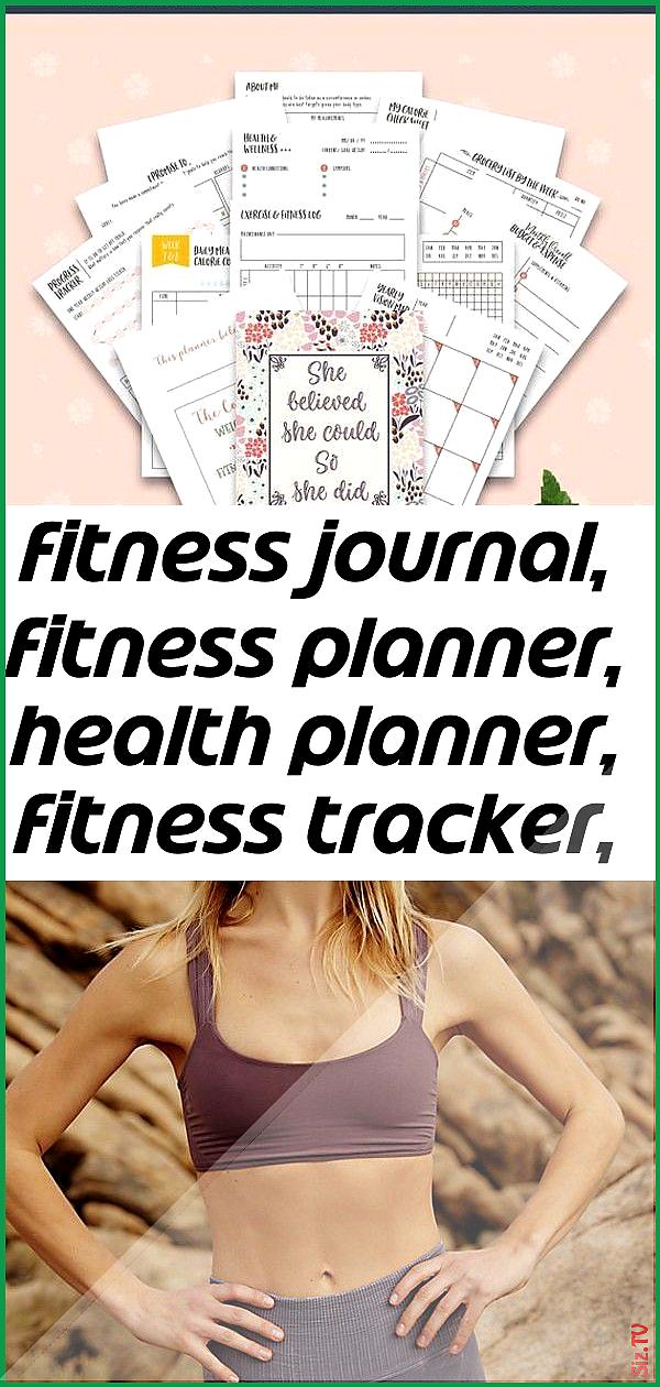 Fitness journal fitness planner health planner fitness tracker workout planner workout log wei Fitne...