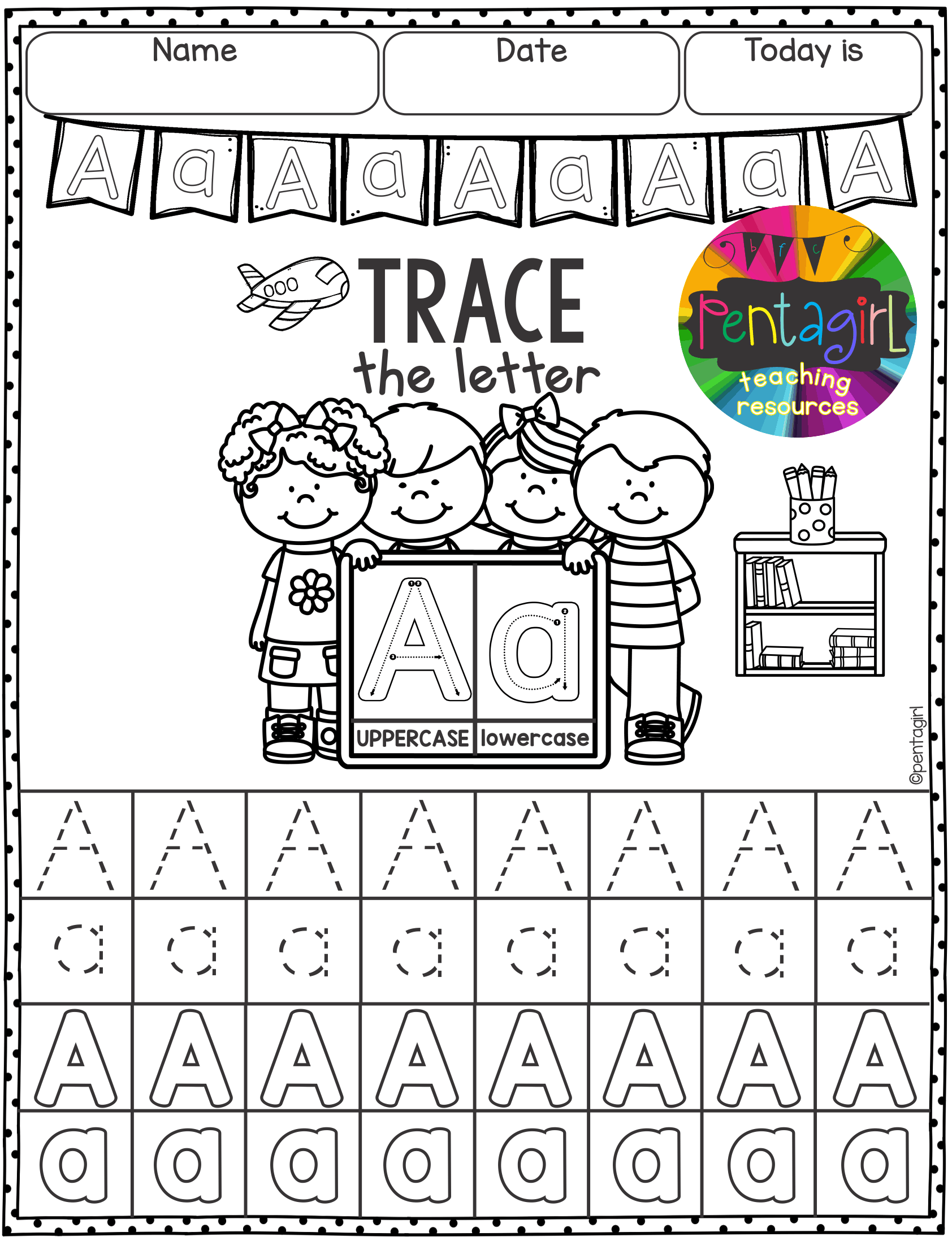 Free Trace The Letters From A To Z