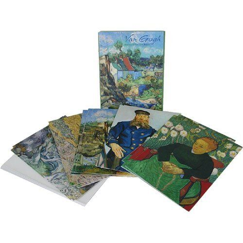 Van Gogh Paintings Boxed Cards Nouvelles Images - 20 cards by Nouvelles Images Cards. $14.99. Boxed presentation. 4 each of 5 designs. Nouvelles Images uses well known iconic French images. 21 envelopes. Imported from France. 5 different Van Ghogh paintings for cards suitable for any occasion (they are blank inside). 20 cards total, 21 envelopes.