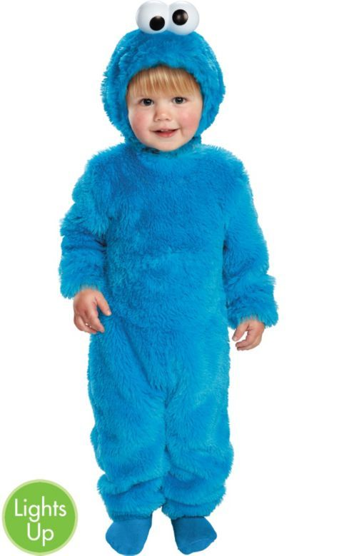 21960a13e Light Up Sesame Street Cookie Monster Costume for Toddler Boys - Party City