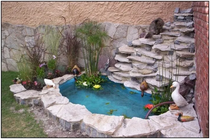 159 stunning front yard courtyard landscaping ideas page ... on Courtyard Pond Ideas id=55878