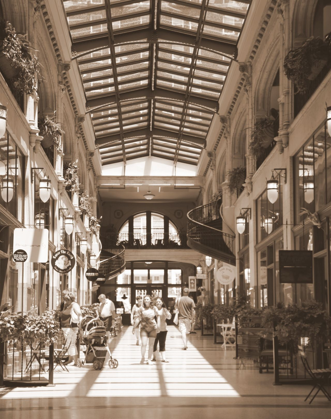 Grove Park Arcade, Asheville, NC.  This is a beautifully restored 1920's era arcade used today as a shopping mall.