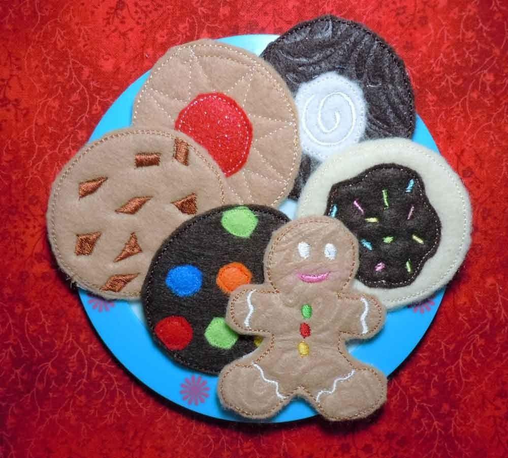 In The Hoop Cookies Set Felt Food Machine Embroidery Design