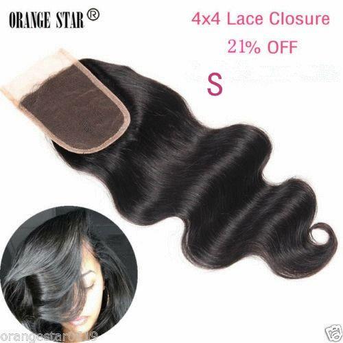 Peruvian Virgin Hair Lace Closure Body Wave 7A 4x4 Human Hair Lace Closure 1b…