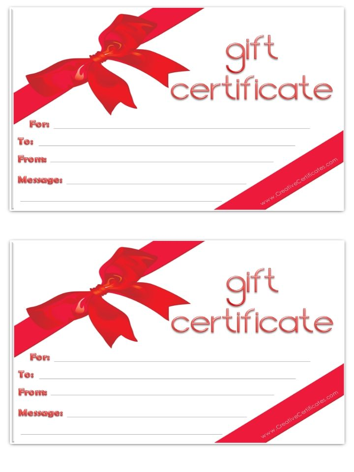 blank gift certificate | Free printables | Pinterest