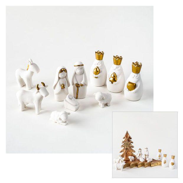 White Miniature Porcelain Nativity Scene Sets With Box Nativity Scene Nativity Set White Nativity Set