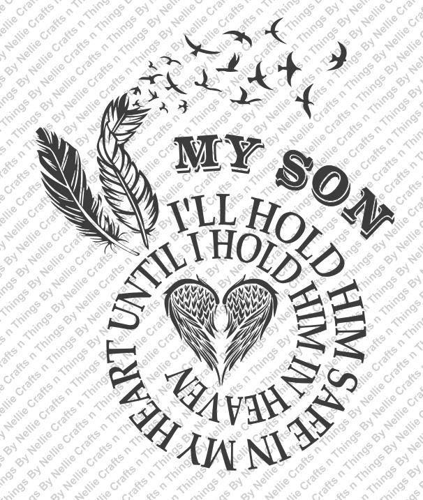 Memorial Dad svg Dad Guardian Angel svg Funeral Memorial svg heart dad svg Dad In Heaven svg My Dad svg Dad svg rest in peace svg