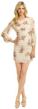 1f16276b37a0 copper sequin dress-badgley mischka sequin bell sleeve sheath | The ...