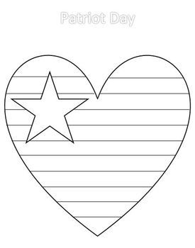 Patriot Pack Heart Coloring Pages Veterans Day Coloring Pages