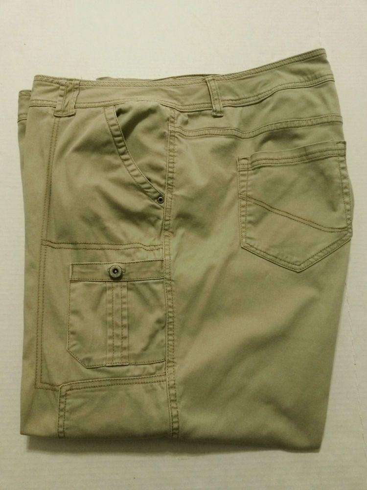 181e74744b6 Faded Glory - Women s Stretch Cargo Pants Size 26W Khaki Beige 28 1 ...