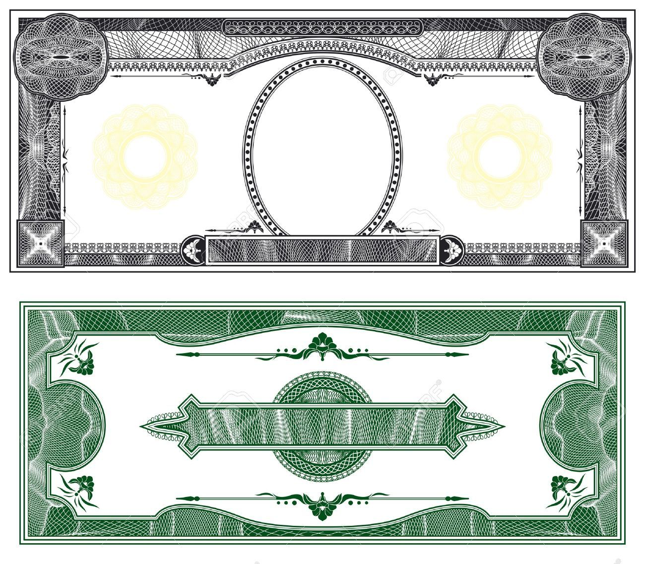 Blank Banknote Layout With Obverse And Reverse Based On Dollar Bill Stock Photo 8109064 In 2021 Money Template Bank Notes Dollar Bill Design your own money template