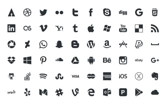 30+ Free Social Media Icons 2018 in PSD and Vector | 30+
