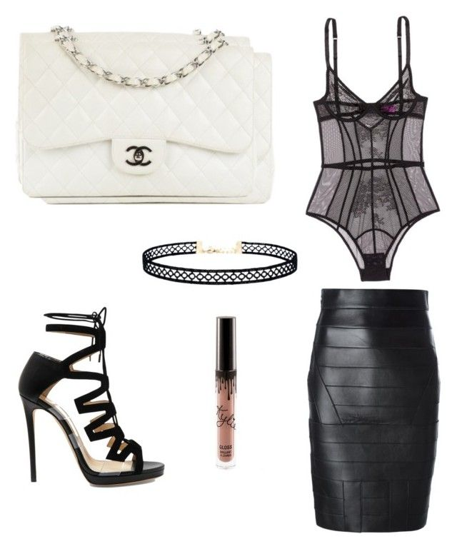 Something sexy by andramua on Polyvore featuring polyvore, fashion, style, Dsquared2, L'Agent By Agent Provocateur, Jimmy Choo, Chanel, LULUS and clothing