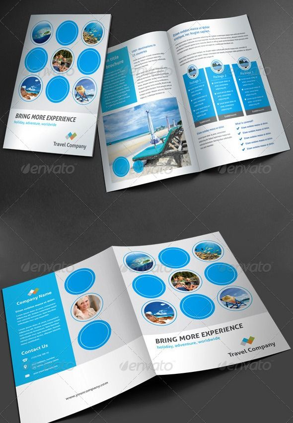 Brosur Tour dan Travel | Brochure | Travel brochure template, Travel