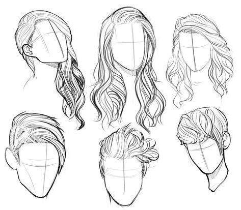 hairstyles sketches  zeichnen  hairstyles sketches