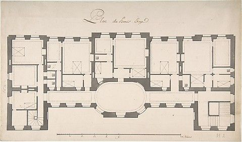 Degana Ground Plan For Second Floor Of A Palace Architectural Floor Plans Vintage House Plans Luxury House Plans