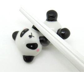 panda bear ceramic chopstick rest