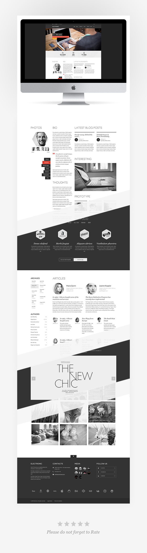 Site Templates - Electronic Responsive HTML | ThemeForest | website ...