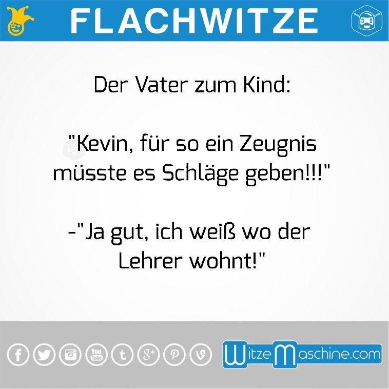 Flachwitze #25 - Schlechtes Zeugnis für Kevin | Witze ...