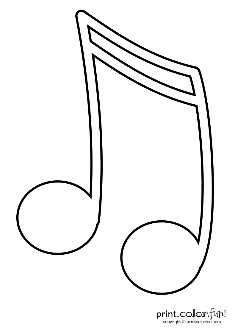 Music Note Coloring Pages Kids