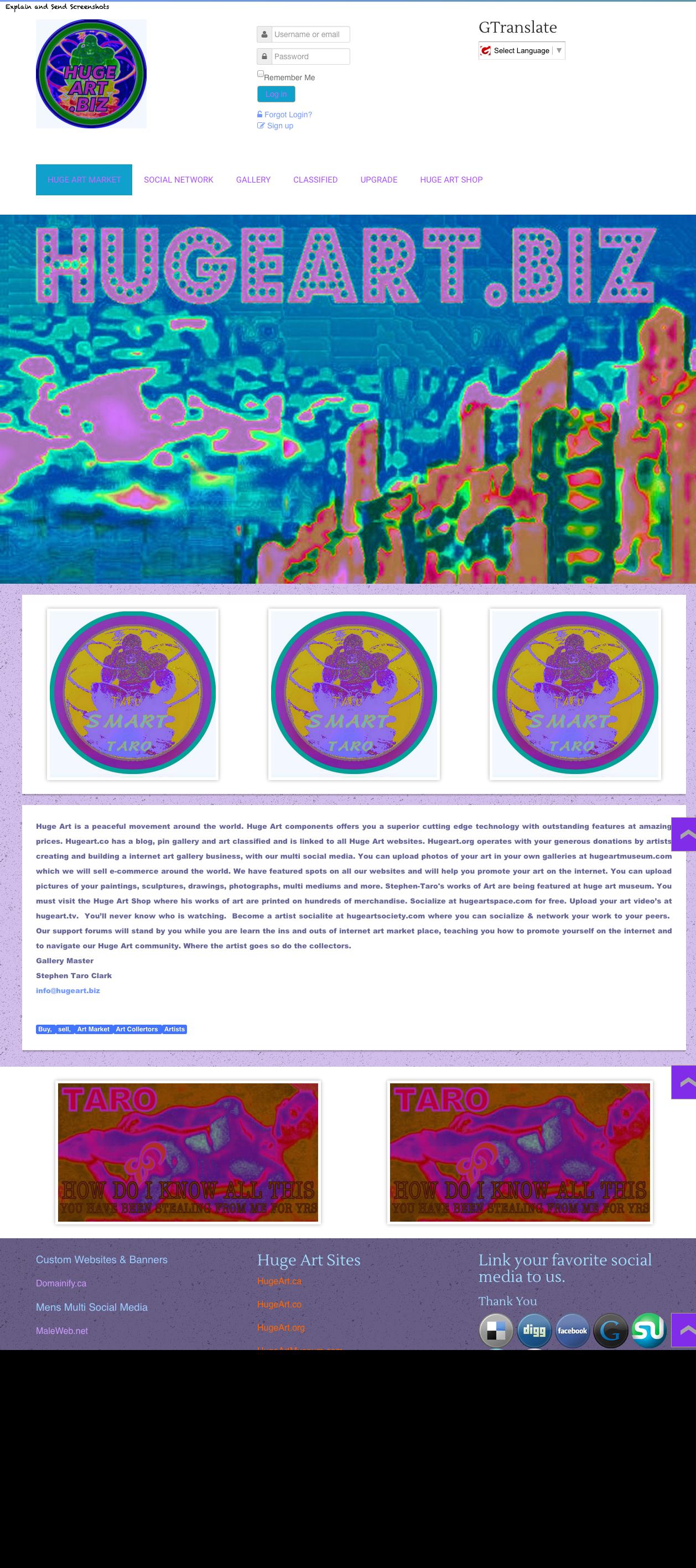 Http Hugeart Biz Learn The Art Business At The World Wide Art Web Hugeartbiz Artistentrepreneur Stephent Art Web Internet Art Art Business