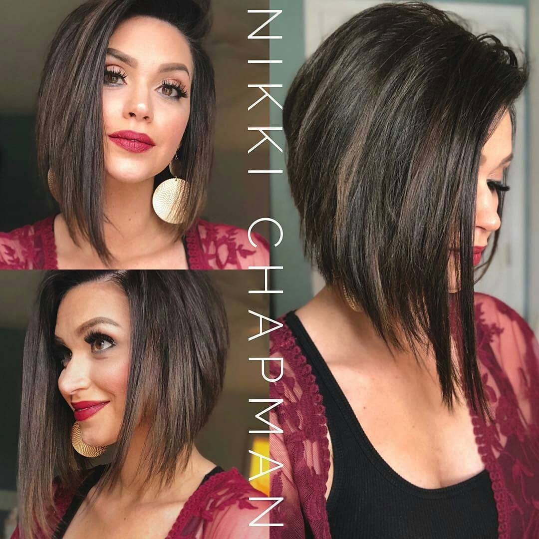 Simple Short Straight Bob Haircut Women Short Hairstyle For Thick Hair Thick Hair Styles Straight Bob Haircut Short Hairstyles For Thick Hair