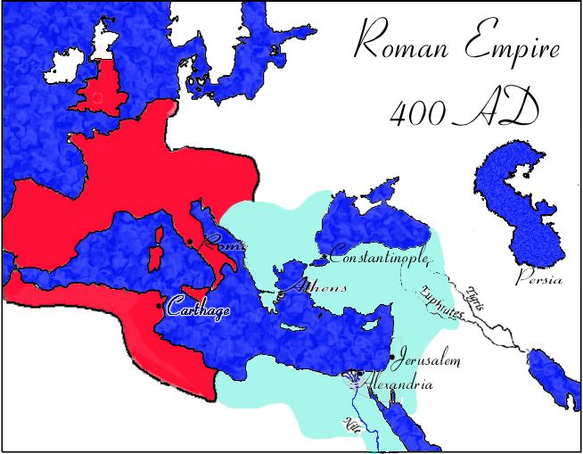 Roman Empire AD AD AD Pinterest Roman Empire - Map of rome 400 ad