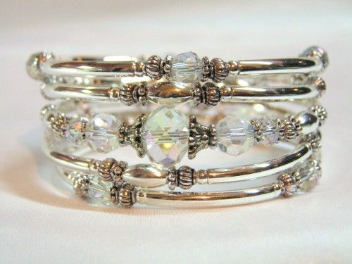 Oooohhhhh What A Gorgeous Memory Wire Bracelet Bead