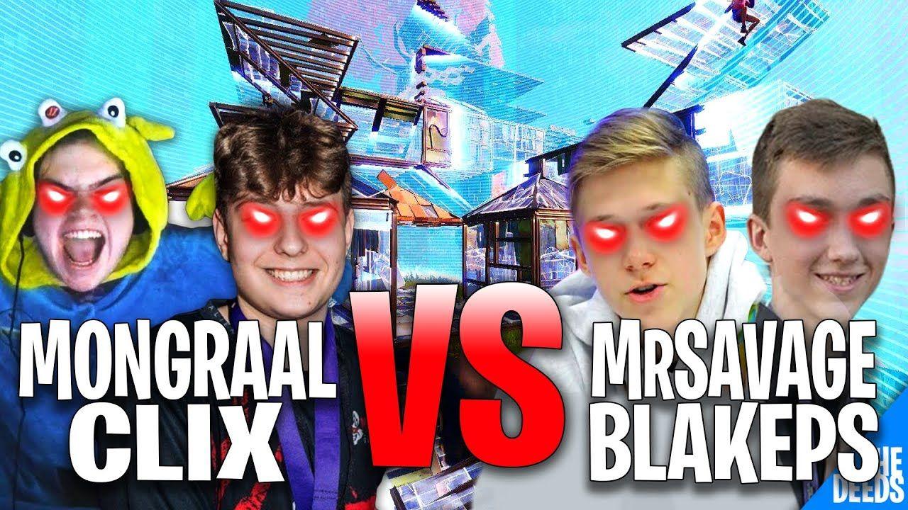 Mongraal & Clix VS MrSavage & Blakeps 2V2 Zone Wars in