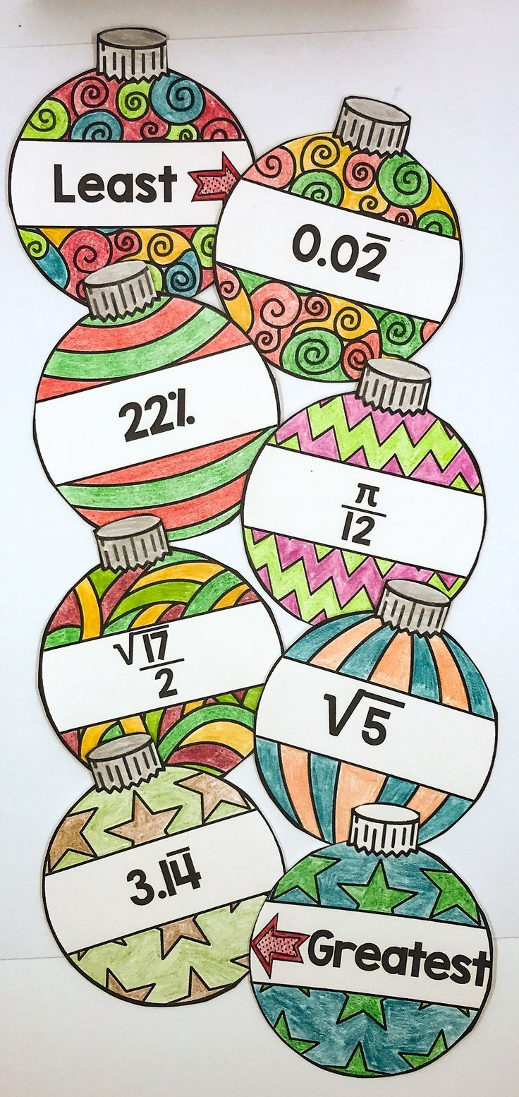 Ordering Ornaments A Christmas Math Activity for