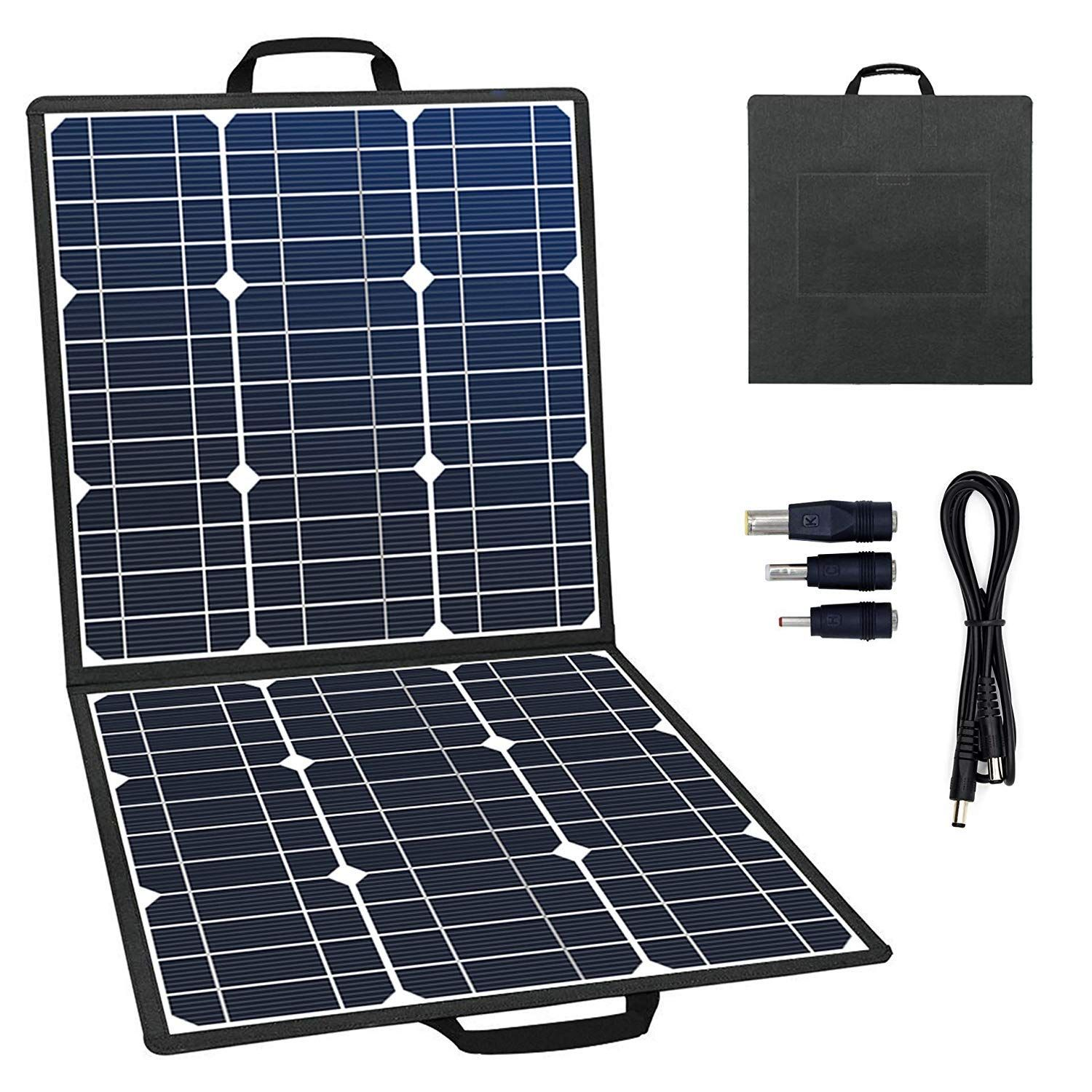 Gofort Portable Foldable Solar Panel Charger 50w 18v Solar Charger For Suaoki Jackery Enkeeo Rockpals Portable P Solar Panel Charger Solar Panels Solar Charger