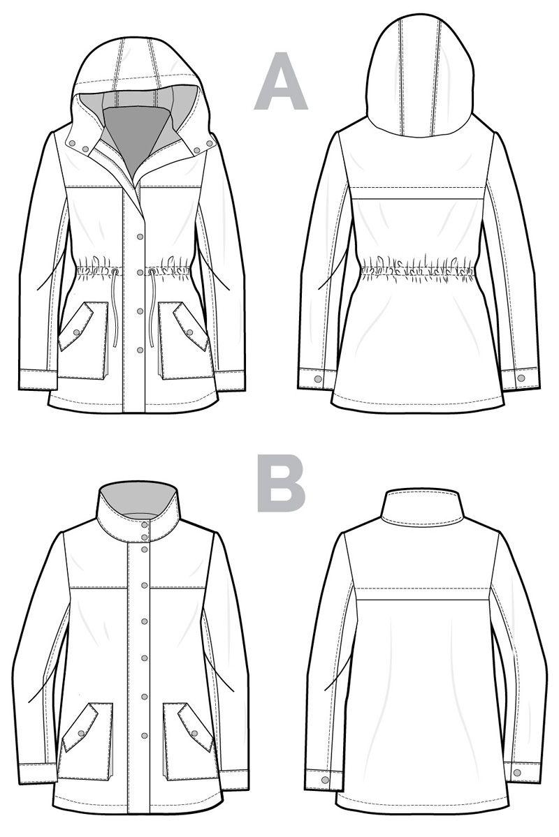 Kelly Anorak Jacket Pattern | Chaqueta Hombre | Pinterest | Costura ...