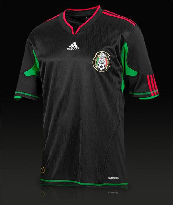0ed90f5f798 adidas Mexico Away SS Shirt - Black/Green/Red | Football Equipments ...
