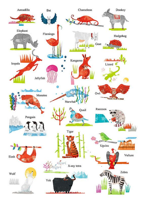 A3 Poster Animals Alphabet 4c Animal Alphabet Alphabet Animals