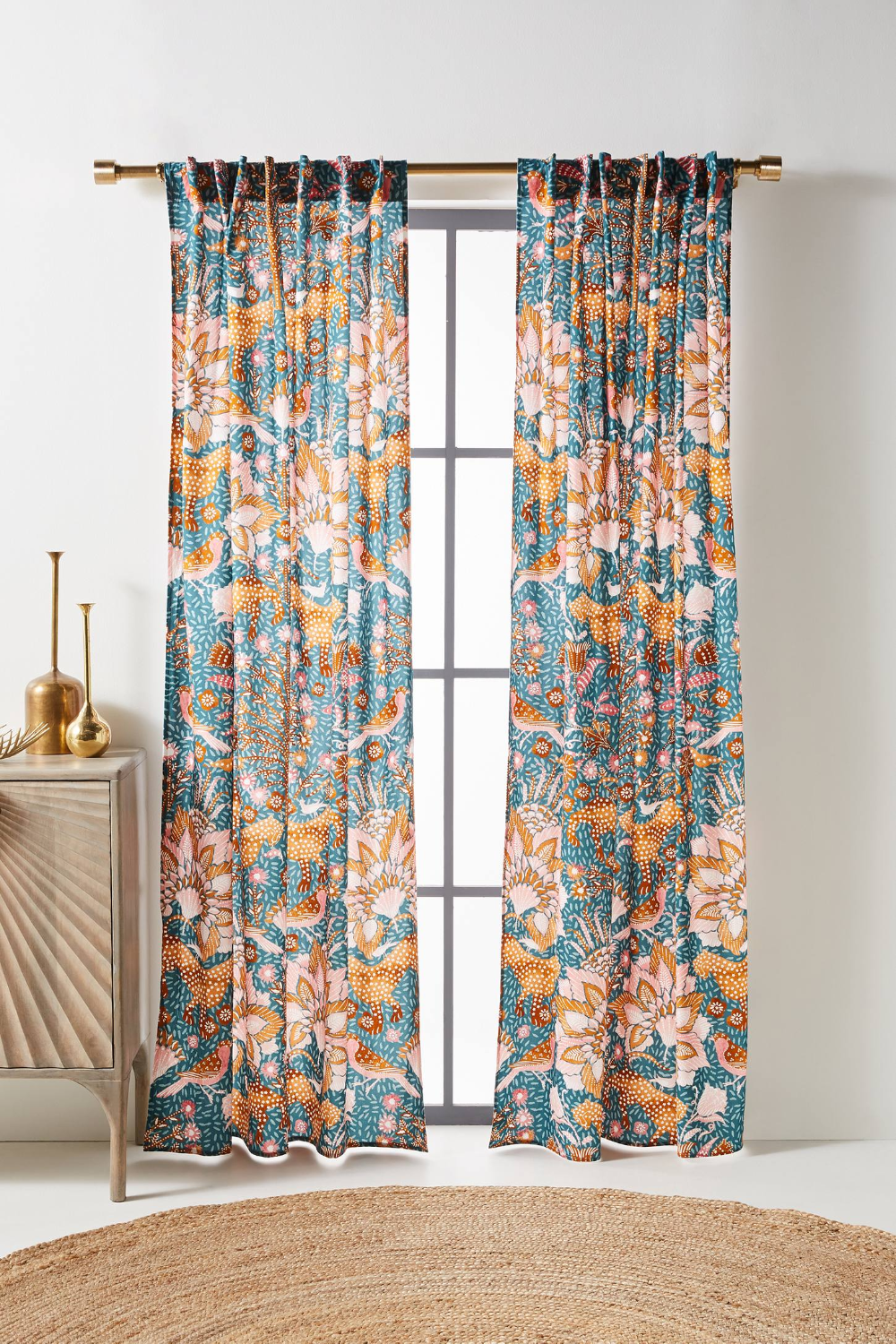 Mahina Curtain In 2020 Printed Curtains Curtains Curtain Patterns