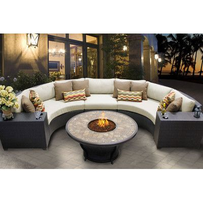 Sol 72 Outdoor Camak 6 Piece Sectional Seating Group with Cushions