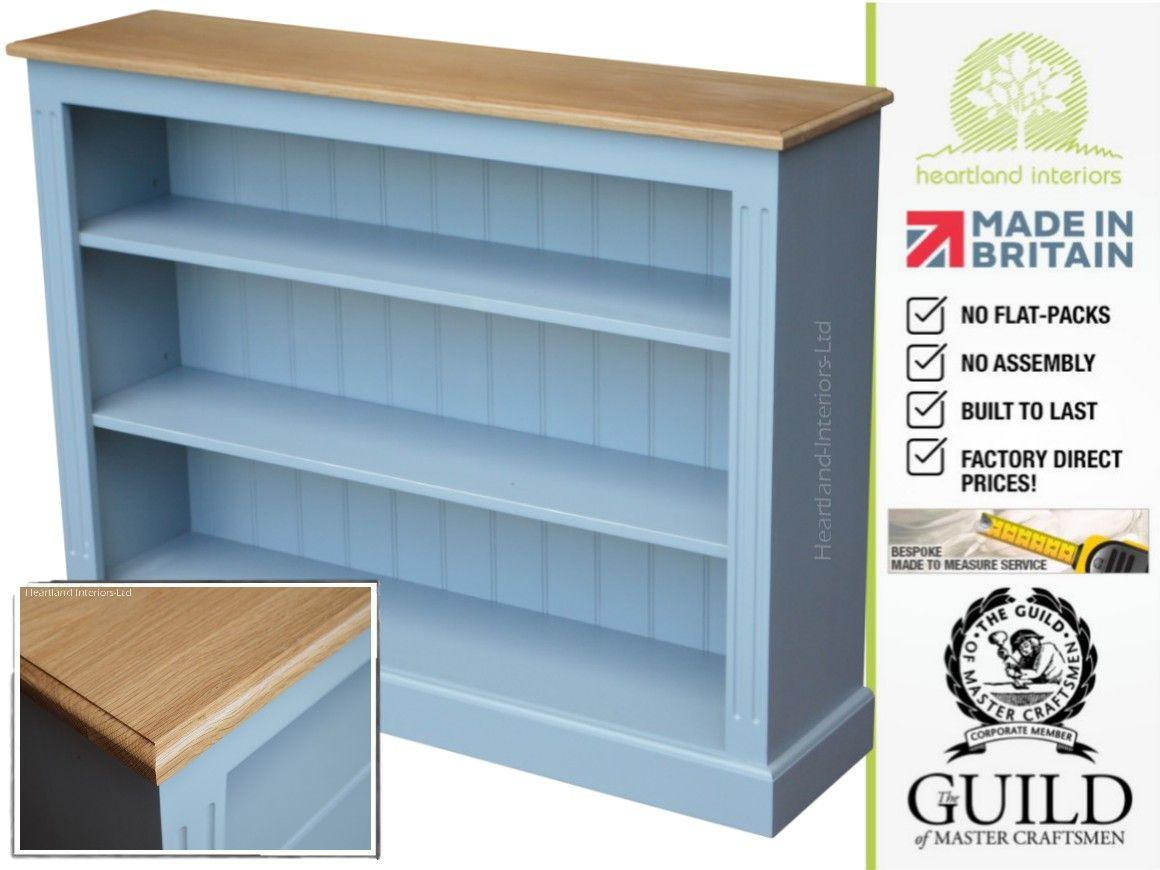 Traditional painted oak ft x ft adjustable bookcase bkok