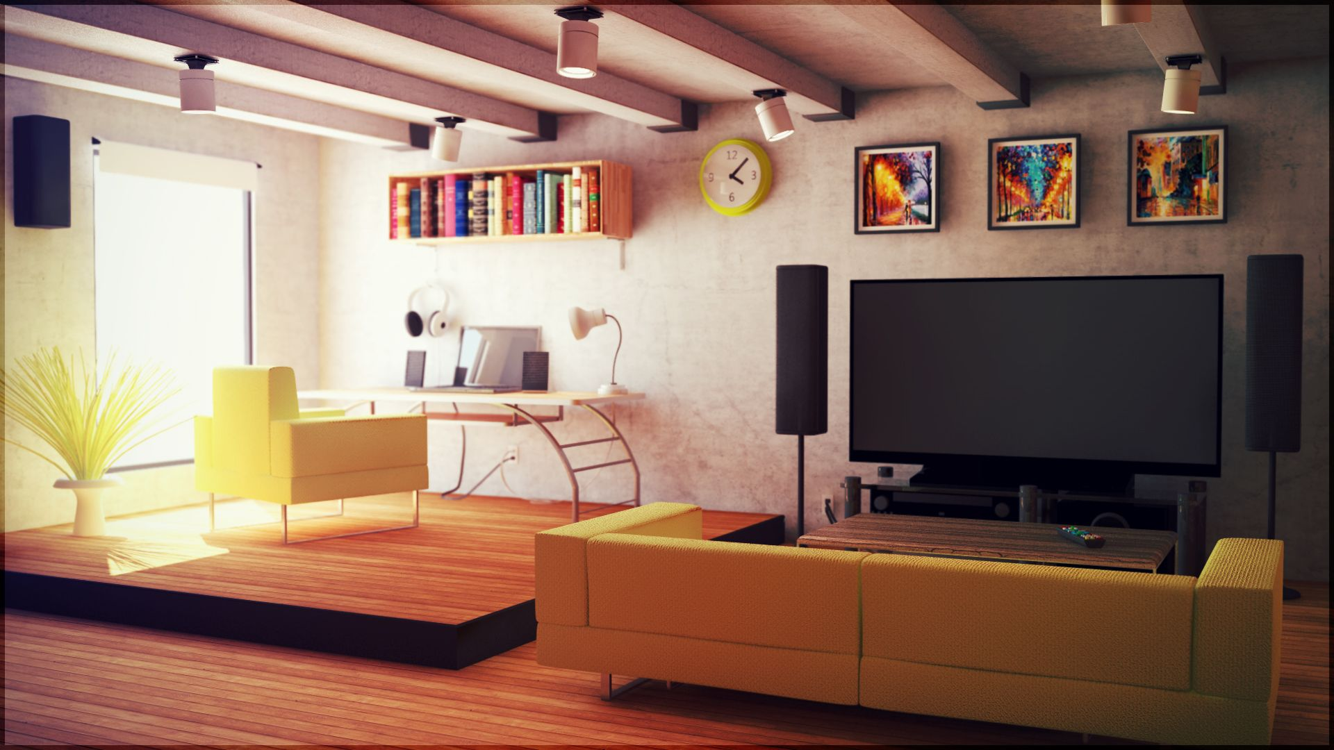 Paint Ideas For Studio Apartments Bedroom And Living Room Image