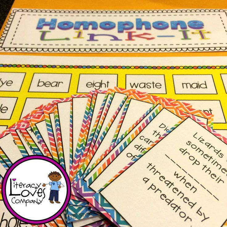 Homophone Link-It!  Literacy Center  Great for  •Literacy Center  •Test Prep  •Vocabulary practice  •Homophone Review   $