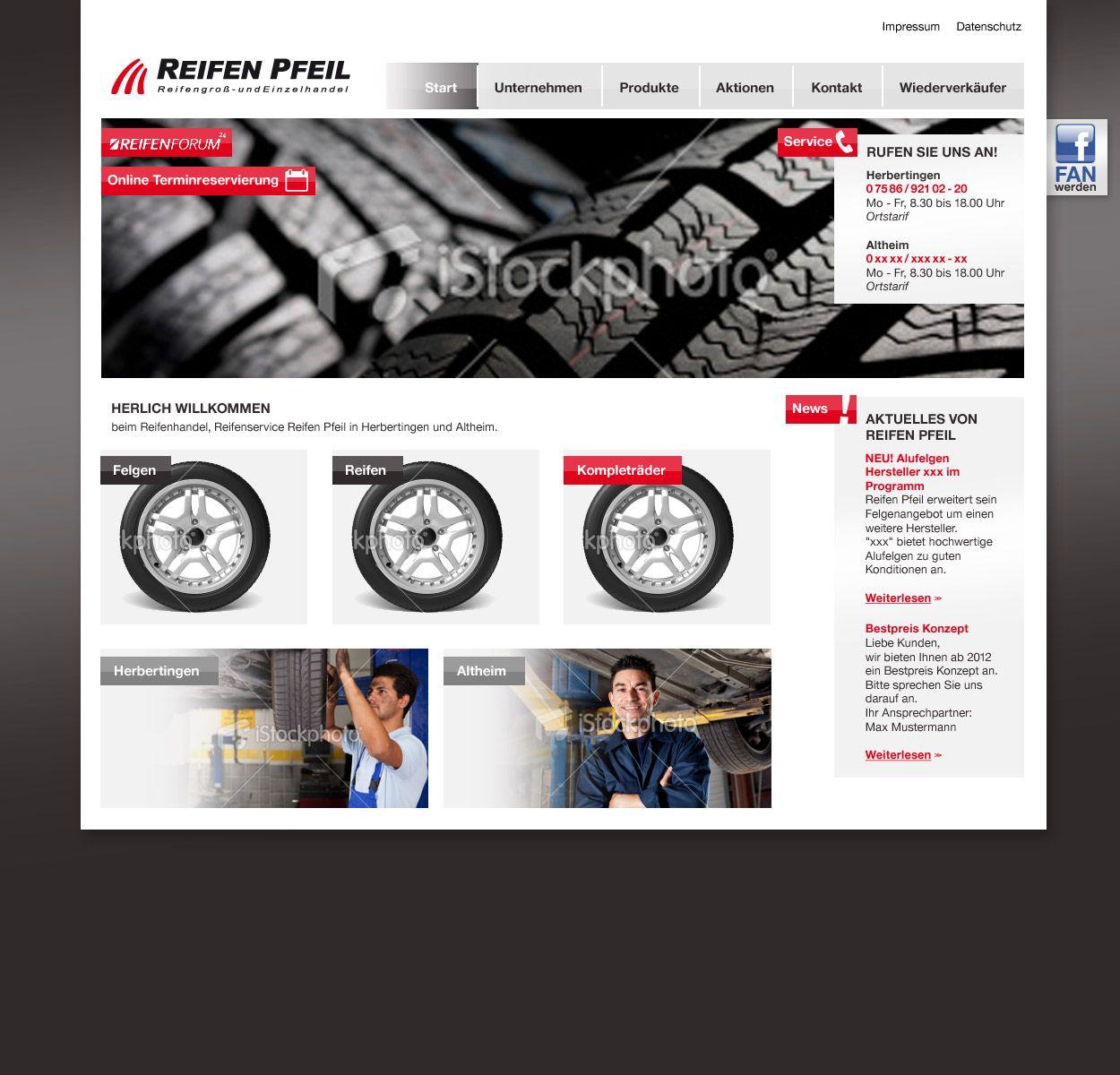 Reifen Pfeil Homepage