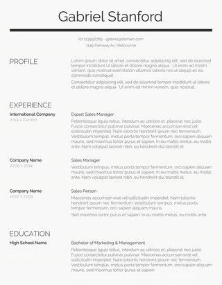 Classic Resume Template Sleek And Simple  Resume Templates