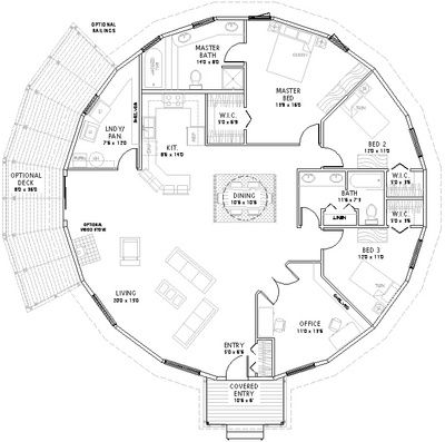 Floor plans for a wooden yurt home dream floor plan for Build dream home online for fun
