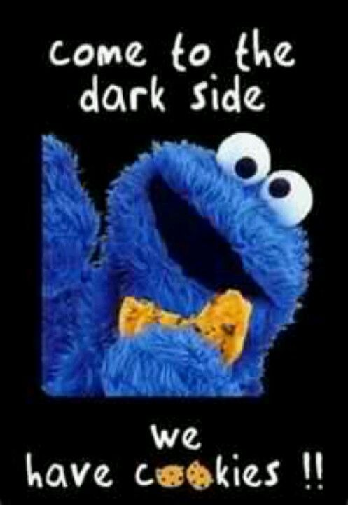 Cookie Monster Eating Death Star Cake