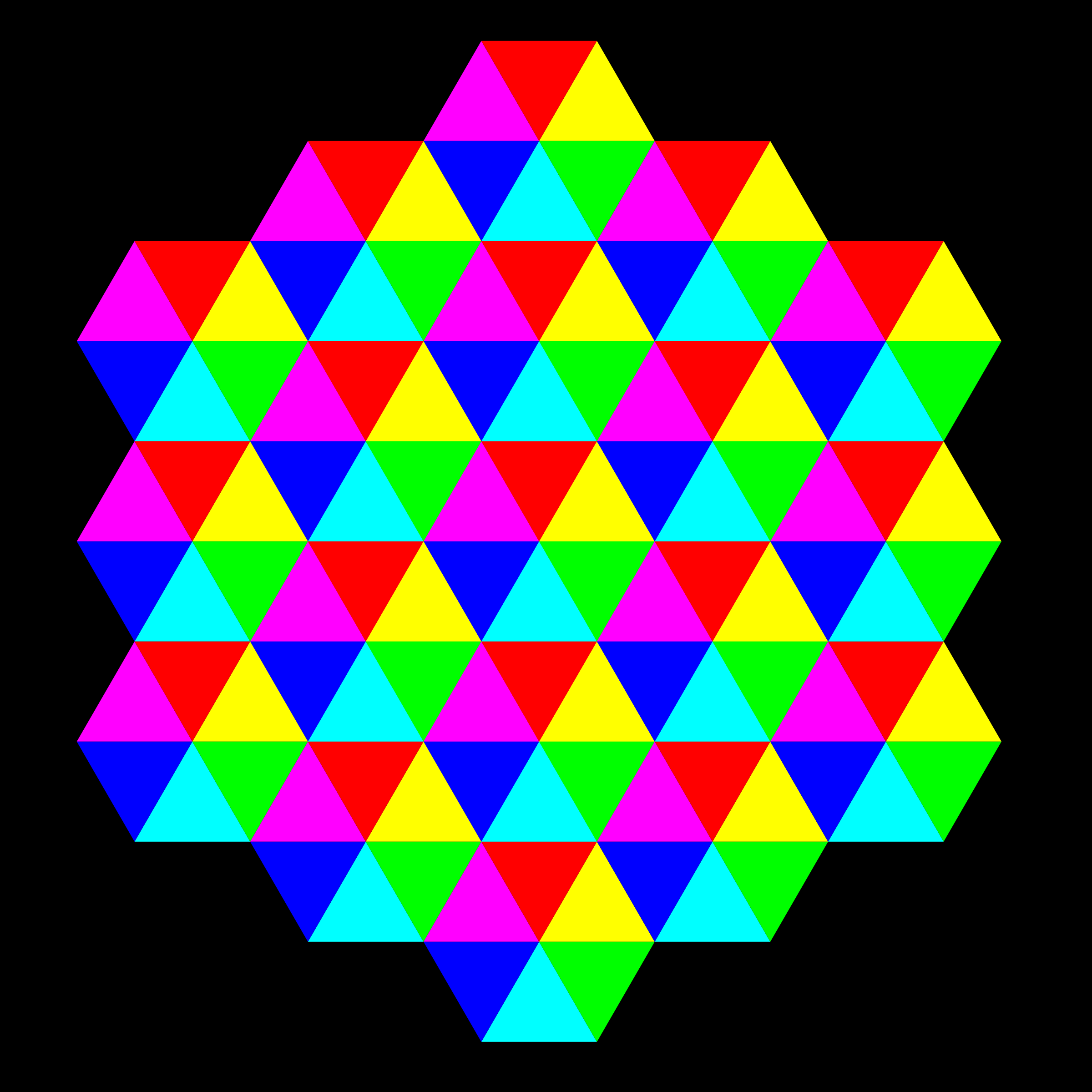 Triangle Tessellation 6 Color By 10binary Tesselations