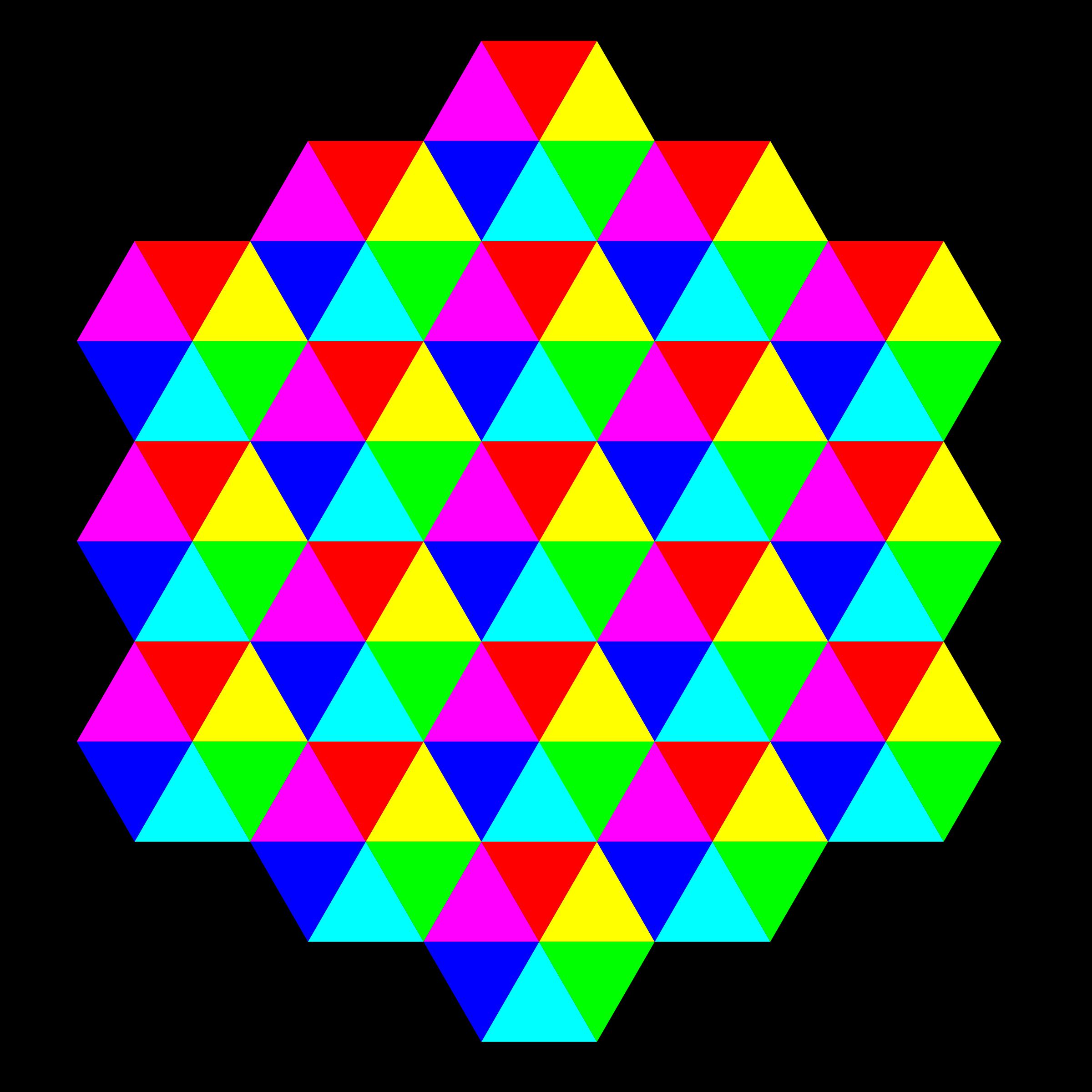 Triangle Tessellation 6 Color